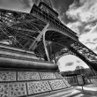 Stock Photo: Magnificence of Eiffel Tower