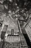 манхэттен, нью-йорк сити. прекрасный вид из высоких небоскребов — Стоковое фото