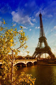 Beautiful colors and vegetation near Eiffel Tower — Stock Photo