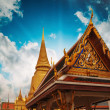 Thailand. Beautiful colors of Famous Bangkok Temple - Wat Pho - Stock Photo
