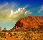 Krásné vnitrozemí barvy v australské poušti — Stock fotografie