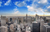Wonderful aerial view of Manhattan Skyscrapers — Stock Photo