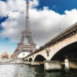 Stock Photo: Wonderful view of Eiffel Tower in all its magnificence - Paris