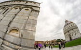 Cathedral, Baptistery and Tower of Pisa in Miracle square — Stock Photo