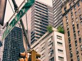 Gökdelenler ve new york şehrinin renklerini — Stok fotoğraf