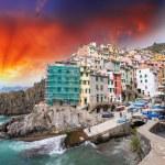 Wonderful Coast of Riomaggiore, Cinque Terre - Italy — Stock Photo #24109541