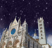 Siena, Italy. Wonderful view of Duomo, the Cathedral — Foto Stock