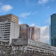 Wonderful modern skyscrapers in La Defense district - Paris — Stock Photo