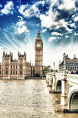 Houses of Parliament, Westminster Palace - London gothic architecture — Stock Photo