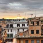 Stairs of Piazza di Spagna in Rome from Trinita dei Monti — Stock Photo #24281695