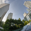 Постер, плакат: LONDON SEP 29: Modern skyscrapers of Canary Wharf district Se