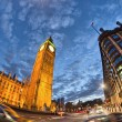 London. Magnificence of Big Ben Tower at sunset — Stock Photo