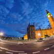 London, UK. Wonderful lights of Westminster Palace and Big Ben a — Stock Photo