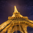 PARIS, NOV 30: Lighting the Eiffel Tower on November 30, 2012 in - Stock Photo