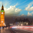 Beautiful colors of Big Ben from Westminster Bridge at Sunset - — Stock Photo #24284225