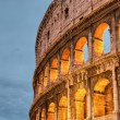 ������, ������: Rome Italy Wonderful sunset colors shining on Ancient Colosseu