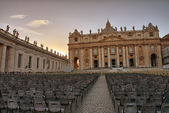 St Peter Square with Basilica - Vatican City — Stock Photo