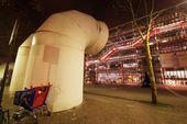 PARIS - NOV 30: Centre Georges Pompidou (1977) view at night, No — Stock Photo