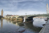 Лондон. красивый широкий угол обзора, палат парламента, Биг Бен — Стоковое фото