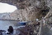 Krásný pohled do jeskyně v jižní itálii — Stock fotografie