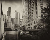 Chicago Buildings and Skyscrapers, Illinois — Stock Photo