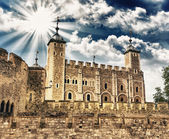 Tower of London - Autumn sunset colors — Stock Photo