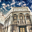 Beautiful view of Florence Baptistery in Piazza del Duomo — Stock Photo