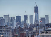 NEW YORK CITY - FEB 24: View of Manhattan Modern Buildings, Febr — Stock Photo