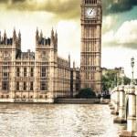 Domy Parlamentu, Pałacu Westminsterskiego - gotycki archite Londyn — Zdjęcie stockowe