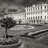 Schoenbrunn Castle and Garden in Summer, Vienna — Stock Photo