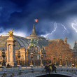 The Great Palace - Le Grand Palais in Paris with Storm - Stock fotografie
