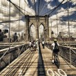 Brooklyn Bridge view, New York City — Stock Photo #24760143