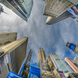 NEW YORK CITY - FEB 24: Street view of Times Square Skyscrapers, - Стоковая фотография