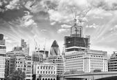 City of London with Typical Modern Architecture - Beautiful suns — Stock Photo