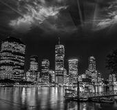 Brisbane, Australia. Wonderful cityscape at night with river and — Stock Photo