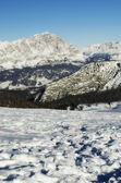 Snowy Landscape of Dolomites Mountains during Winter — Stock Photo