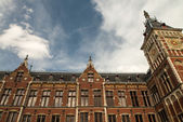 Amsterdam, Netherlands. Beautiful typical city architecture — Zdjęcie stockowe