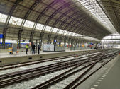 Belle architecture d'amsterdam, pays-bas. la m centrale — Photo