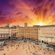 Stock Photo: Wonderful aerial view of Piazzdel Campo, Sienon beautiful