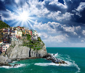 Cinque Terre, Italy. Beautiful view in Spring Season — Stock Photo