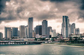 Miami Skyscrapers over a Cloudy Sky — Stock Photo