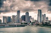 Miami Skyscrapers over a Cloudy Sky — Foto Stock