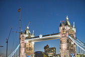 London. The Tower Bridge at sunset — Stock Photo