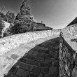 Devils Bridge Fisheye View, Lucca — Stock Photo