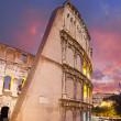 Colors of Colosseum at Sunset in Rome — Stock Photo