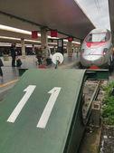 FLORENCE - APR 5: Trenitalia Train stops in central station, Apr — Stock Photo