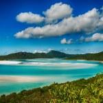 Whitehaven beach lagoon at national park queensland australia tr — Stock Photo #25390165