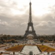 Tour Eiffel, Paris. Wonderful view of famous Tower from Trocader — Stock Photo
