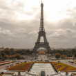 Tour Eiffel, Paris. Wonderful view of famous Tower from Trocader — Stock Photo #25390595