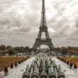 Tour Eiffel, Paris. Wonderful view of famous Tower from Trocader — Stock Photo #25390667